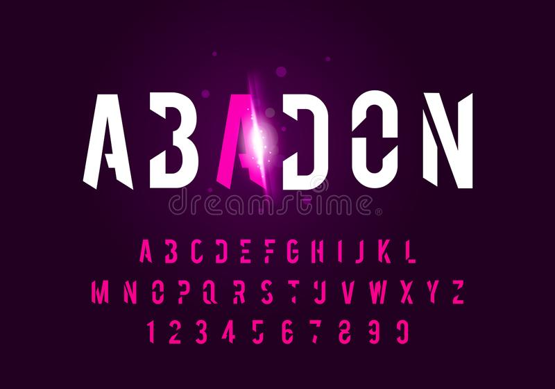 Vector illustraton sport modern alphabet fonts. Technology typography future font uppercase. stock illustration