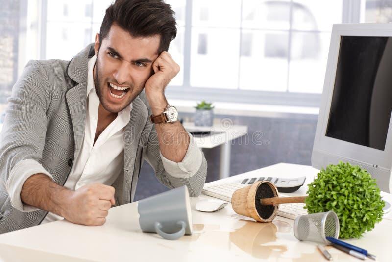 Druck auf Arbeitsplatz stockfotos