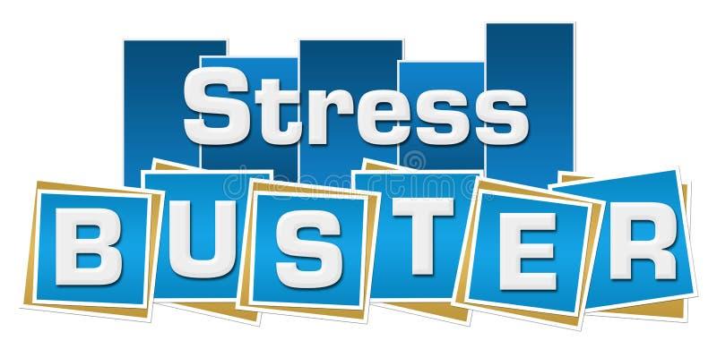 Druck Buster Blue Stripes Squares lizenzfreie abbildung