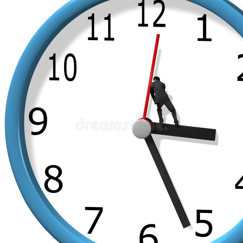 Druck der Uhrhand vektor abbildung