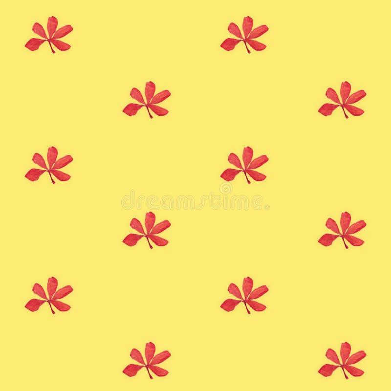 druck nahtloses muster rote blumen mit gelbem hintergrund stock abbildung illustration von. Black Bedroom Furniture Sets. Home Design Ideas