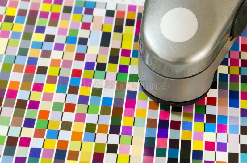 Druck-Spektrofotometer auf Diagramm-Kalibrierung lizenzfreie stockbilder
