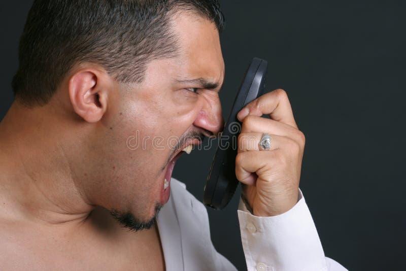 Druck am Telefon stockfoto