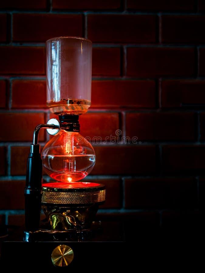 Druckdosenvakuumkaffeemaschine lizenzfreies stockfoto