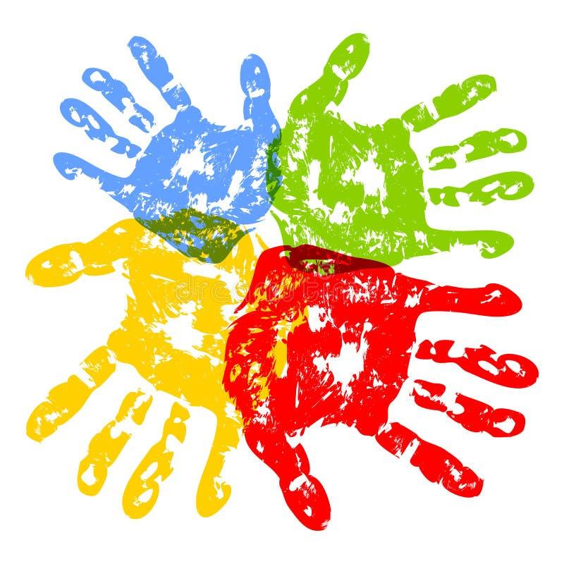 Drucke der Hände lizenzfreie abbildung