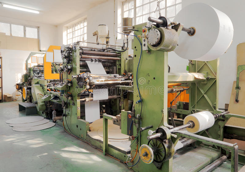 Druckenmaschine lizenzfreie stockbilder