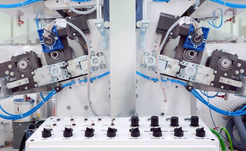 Druckenmaschinendetails stockfoto