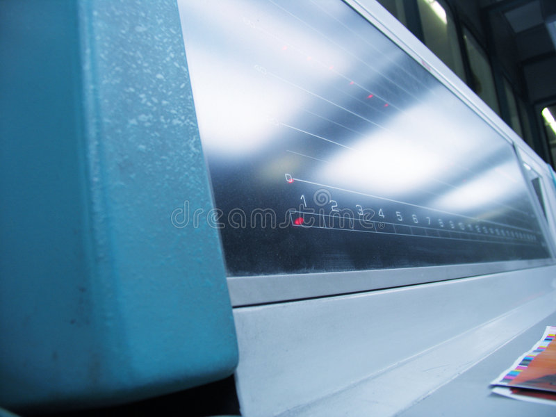 Druckenmaschinenpanel lizenzfreies stockfoto