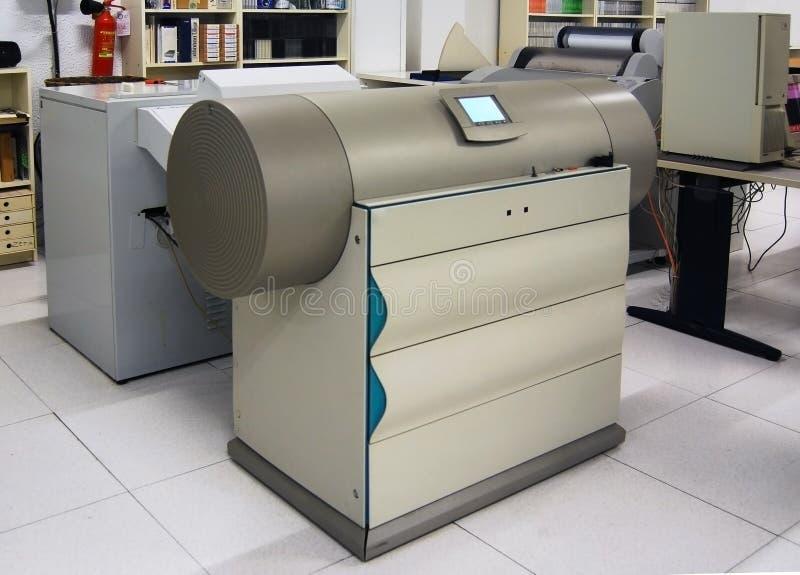 Druckensystem - Trommelscanner lizenzfreie stockbilder