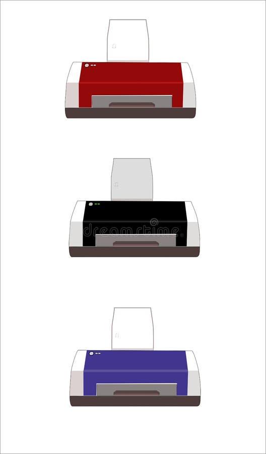 Download Drucker stock abbildung. Illustration von laser, computer - 9079030