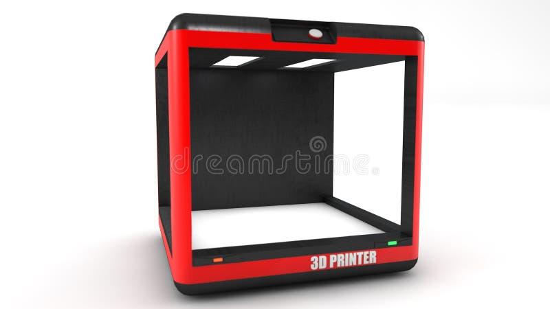 Drucker- 3d und weißerhintergrund stockbilder