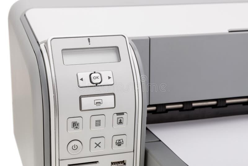 Drucker für den Druck des Textes Bildung und Büro stockfoto