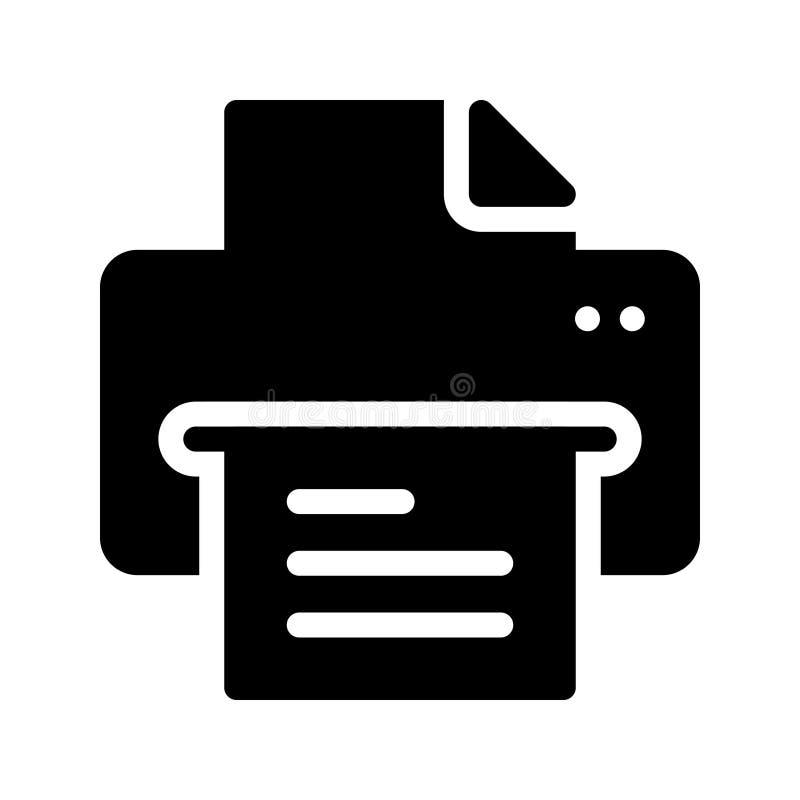 Drucker Glyph-Vektorikone lizenzfreie abbildung