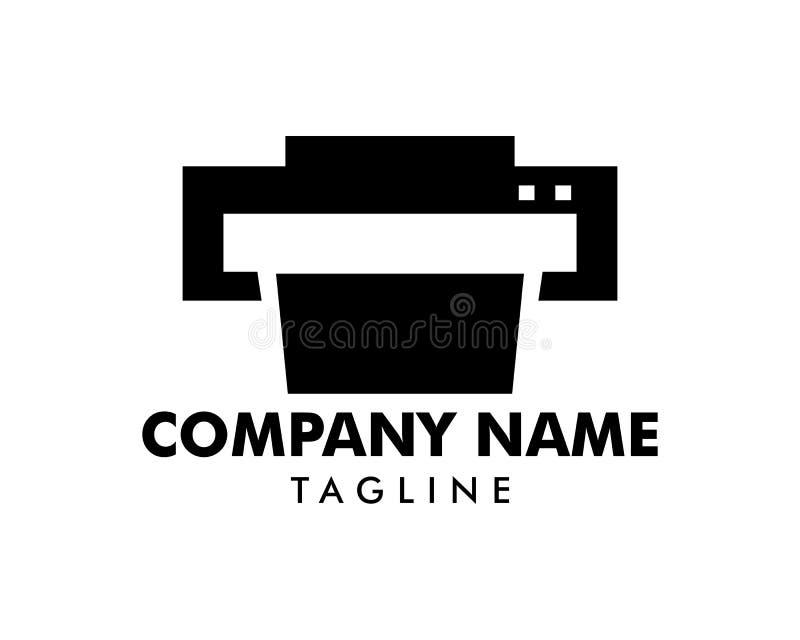 Drucker Icon Vector Logo Template stock abbildung