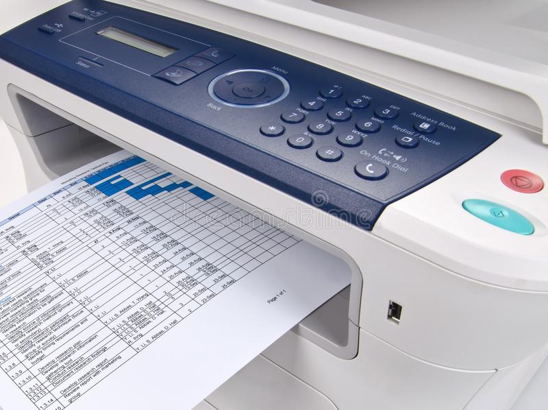 Drucker mit Scaner und Fax - nahes hohes lizenzfreie stockfotografie