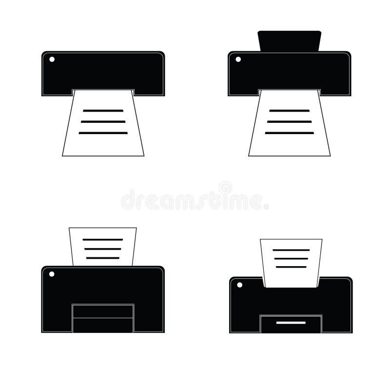 Drucker Schwarzweiss stock abbildung