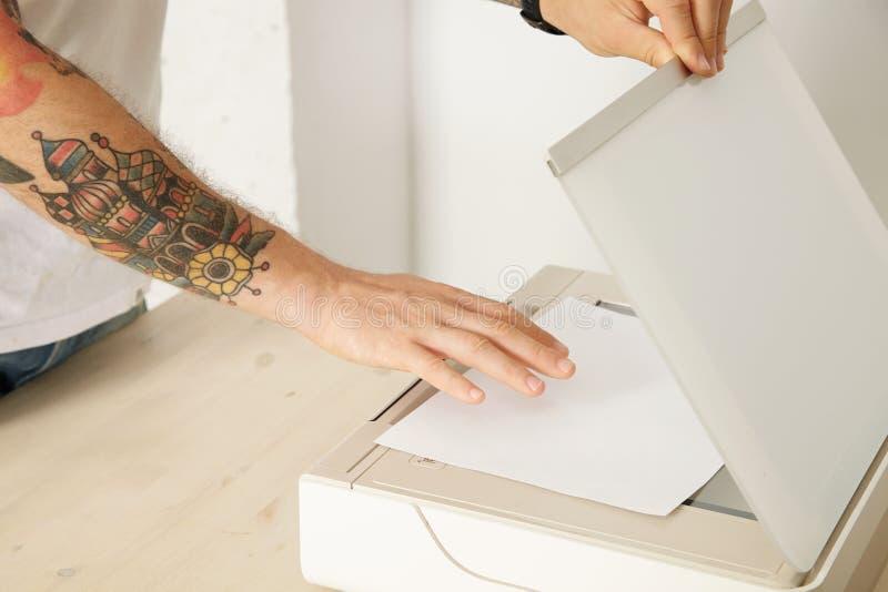 Druckerabtastungssatz lizenzfreies stockfoto