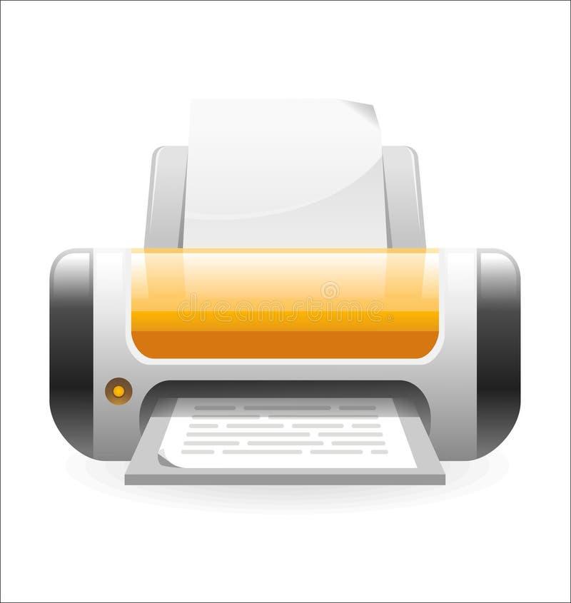Druckerikone lizenzfreie stockbilder