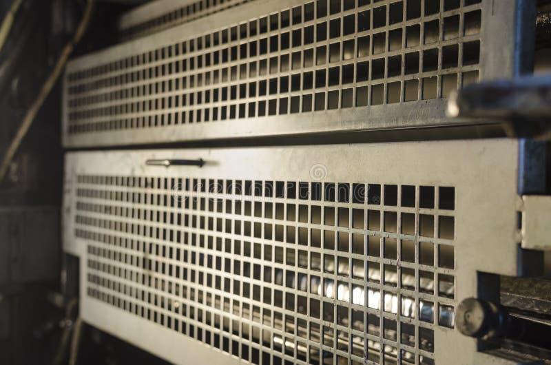 Druckmaschine-Tinten-Einheit lizenzfreie stockfotografie