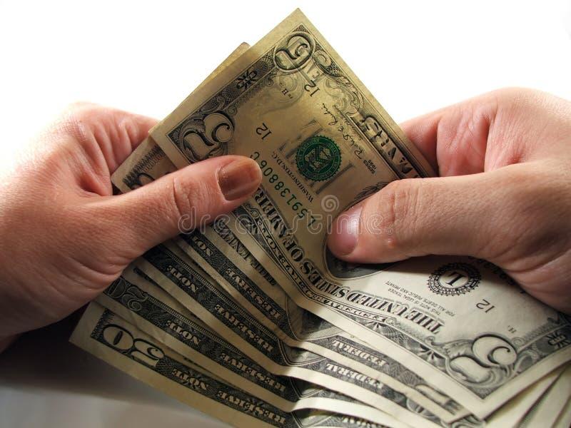 drugą ręką jeden przenieść pieniądze zdjęcie stock