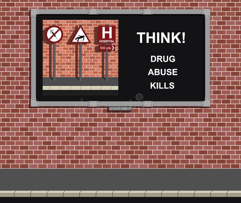 Drug abuse campaign royalty free illustration