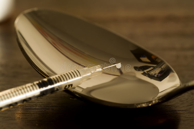 Drug Addiction series 1 stock photography