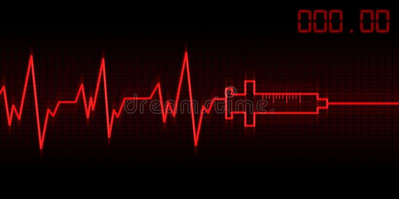 Download Drug addictive heartbeat stock illustration. Image of background - 19198200