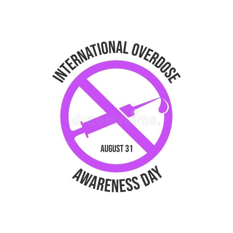 Drug awareness and prevention day. Drug overdose awareness day vector design image illustration vector illustration