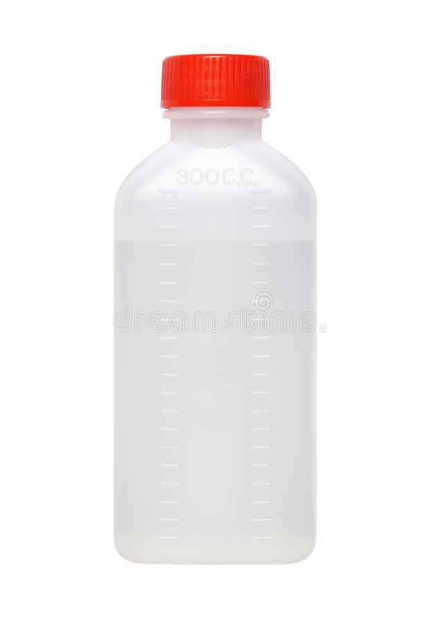 Drug bottle. Plastic drug bottle isolated on white background stock images