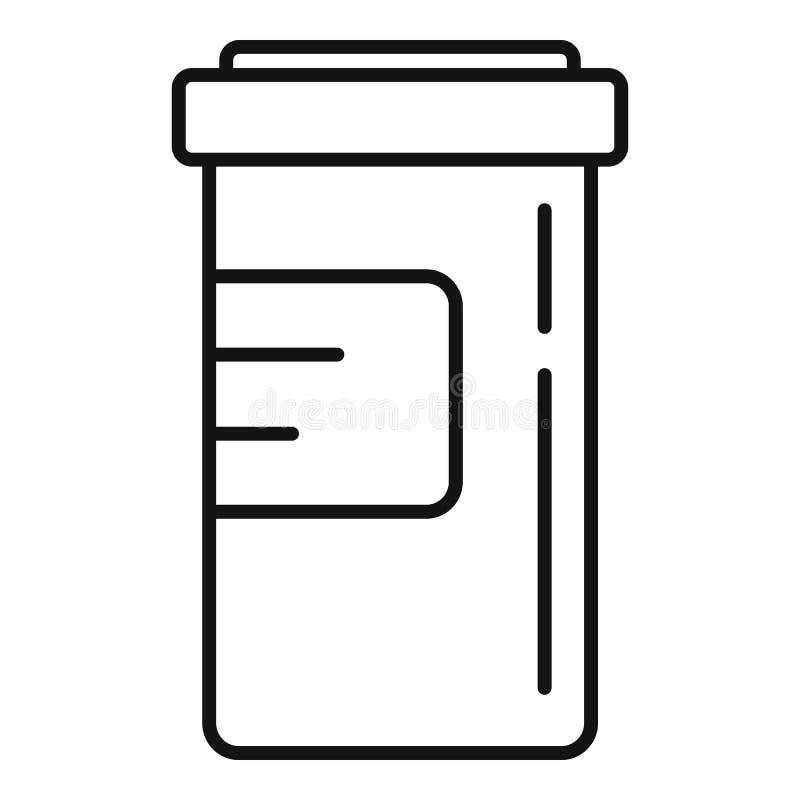 Drug capsule addiction icon, outline style royalty free illustration