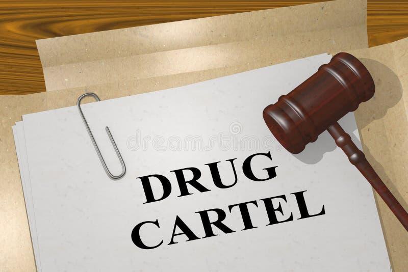 DRUG CARTEL Konzept lizenzfreie abbildung
