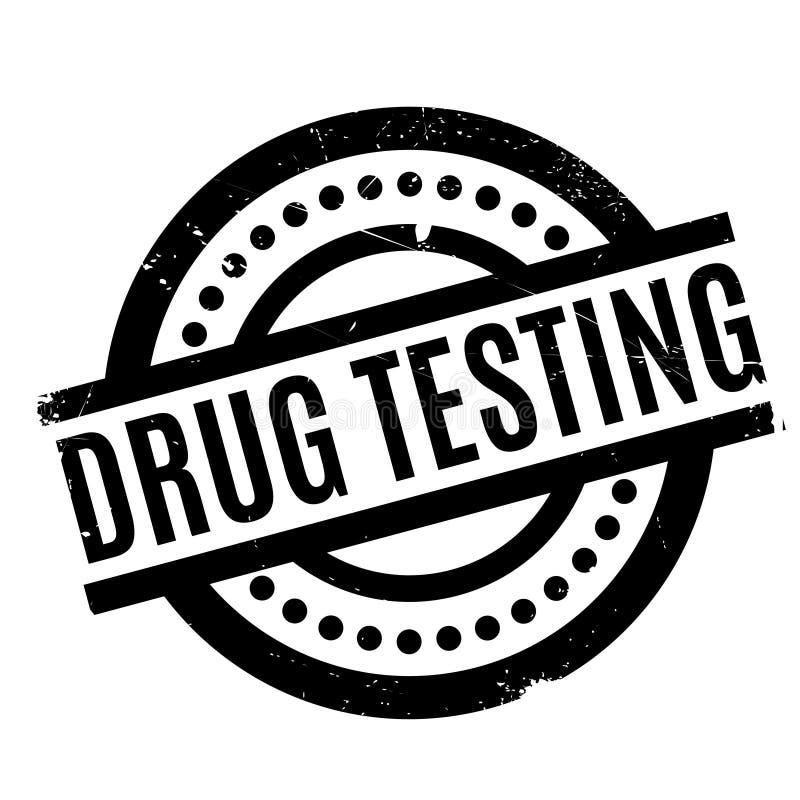 Drug die rubberzegel testen vector illustratie