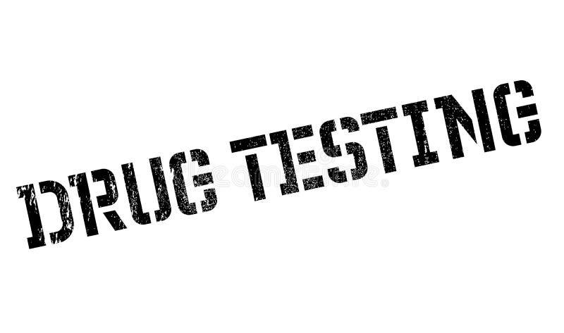 Drug die rubberzegel testen stock illustratie