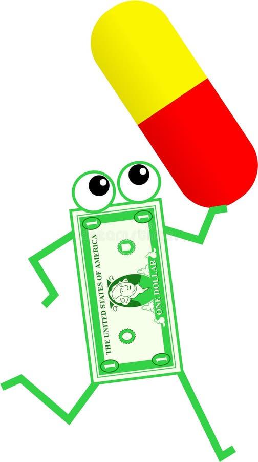Drug dollar royalty free illustration