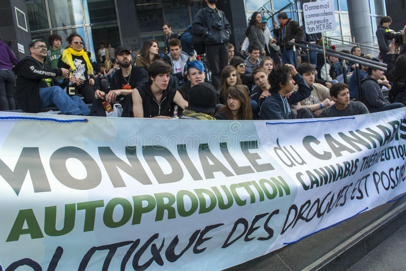 Download Drug Legalization Protest, World Cannabis March Editorial Photography - Image: 24880432