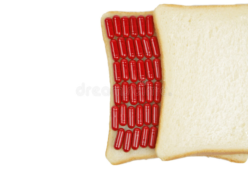 Drug sandwich royalty free stock images