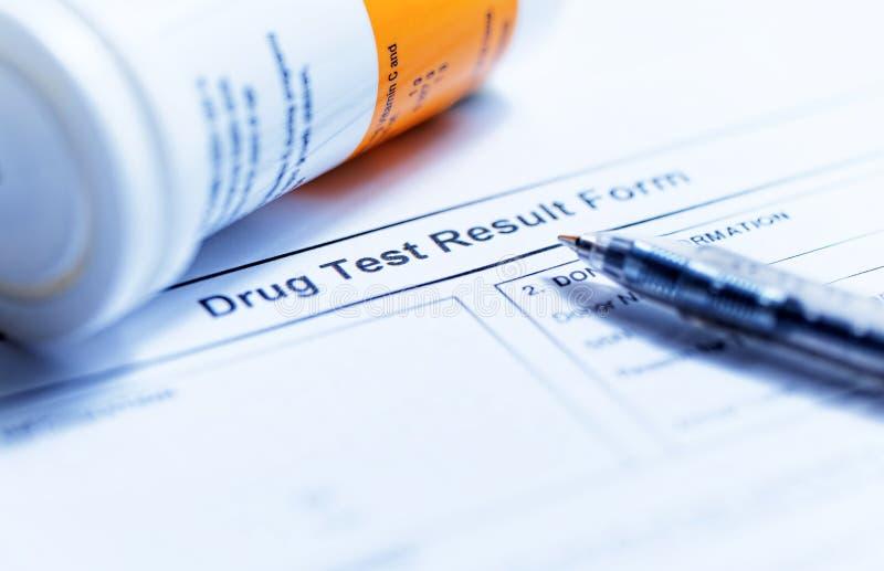 Drug test blank form stock images