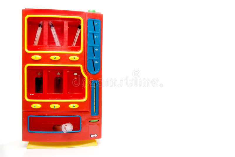 Drug Vending Machine. Easily obtainable street drugs in a vending machine royalty free stock photo