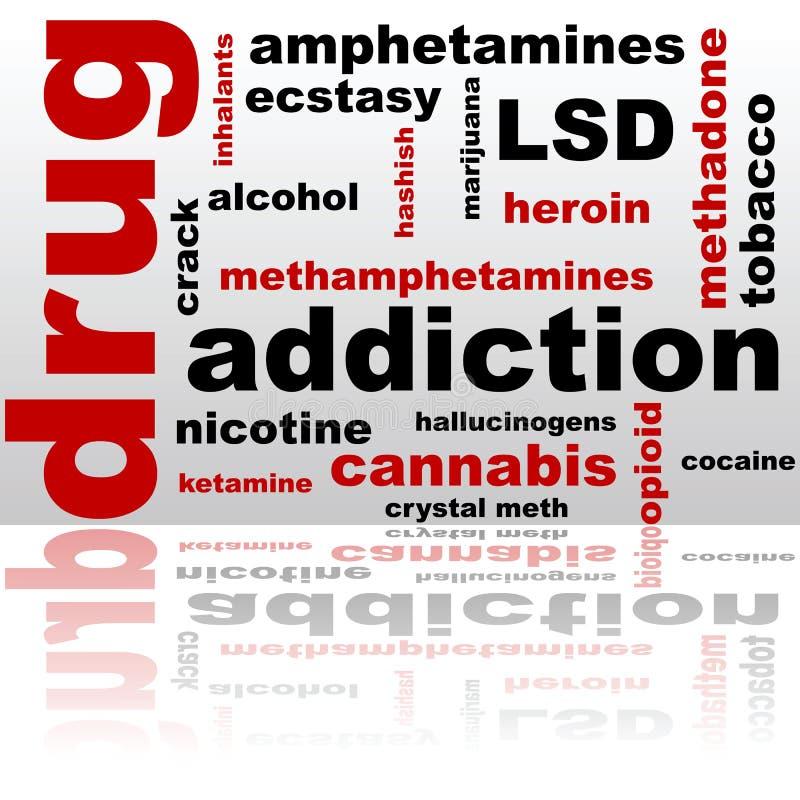 Drug word cloud vector illustration