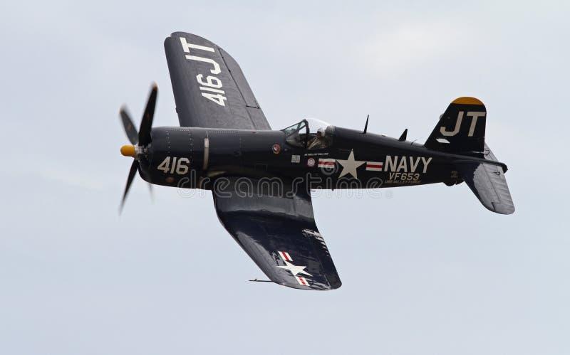 Druga Wojna Światowa Corsair Myśliwiec zdjęcia stock