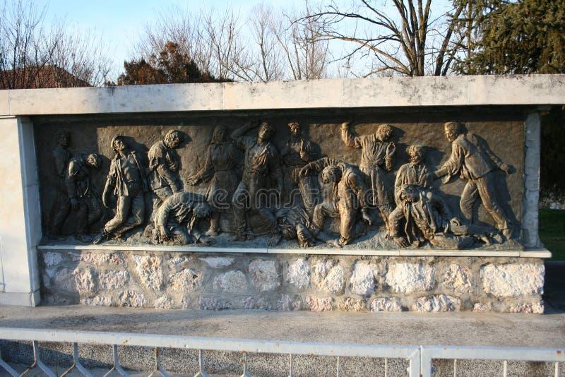 Druga Wojna Światowa pomnik w Skela zdjęcie royalty free