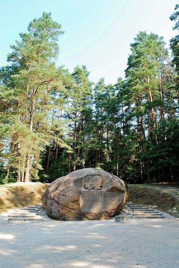 Drugi co do wielkości skała w Anyksciai okręgu Lithuania Puntukas fotografia stock