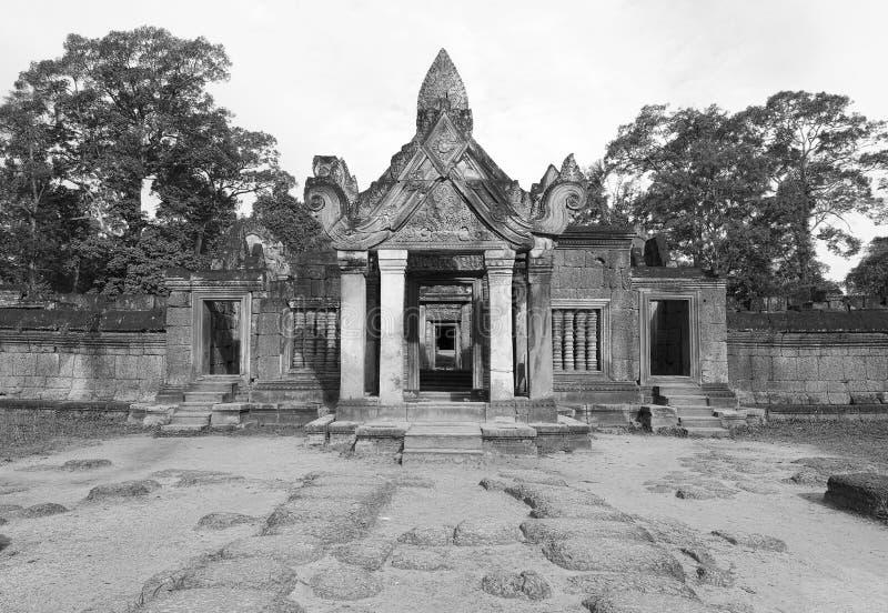 Drugi Klauzura Banteay Srei Obrazy Stock