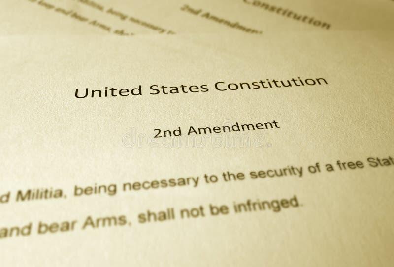 Drugi poprawka zdjęcie royalty free