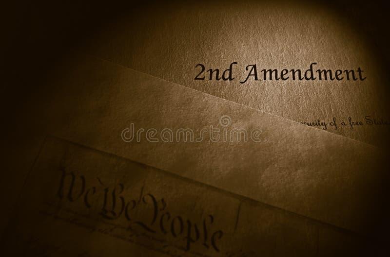 Drugi poprawki pojęcie zdjęcie royalty free
