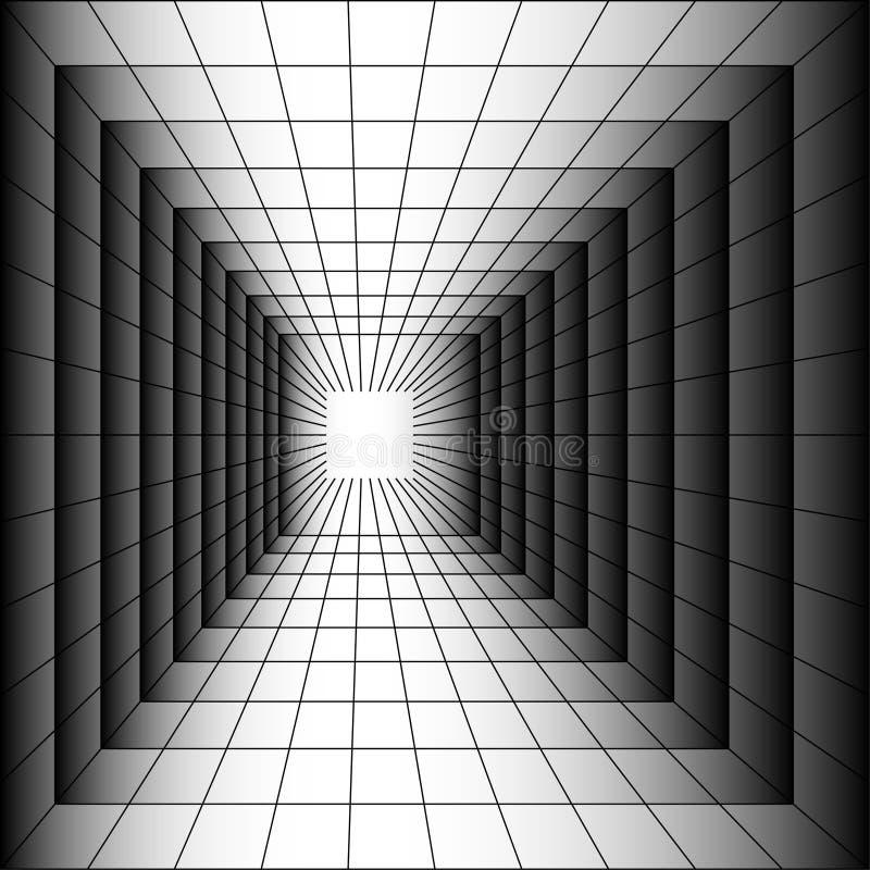 drugi tunel świat royalty ilustracja