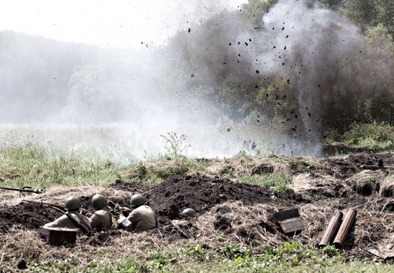 Drugi Wojna Światowa bitwa obrazy stock