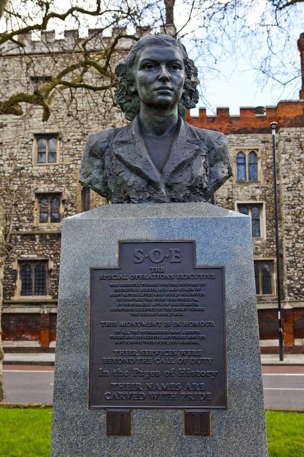 Drugich Wojn Światowa specjalnych operacj Wykonawczy pomnik w Londyn fotografia stock