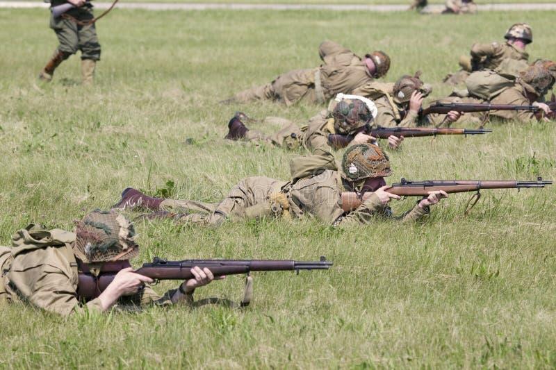 Drugiej Wojny Światowa reenactment obrazy royalty free