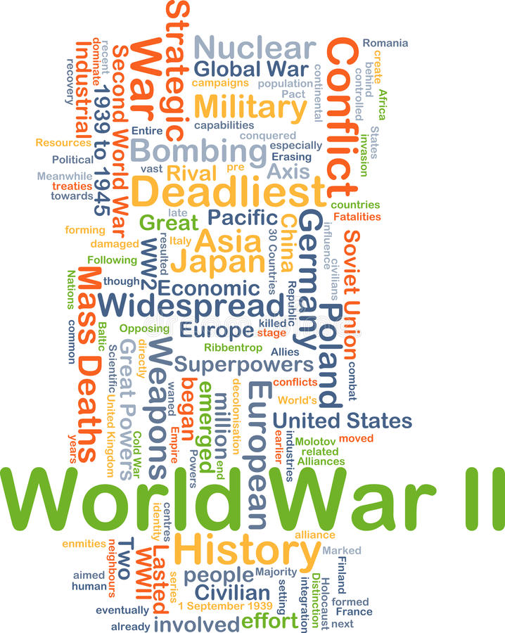 Drugiej Wojny Światowa tła pojęcie ilustracji